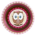 Owl Pink Dessert Plates 